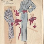 1930s-Vintage-VOGUE-Sewing-Pattern-ONE-PIECE-DRESS-B32-R196-251164050197