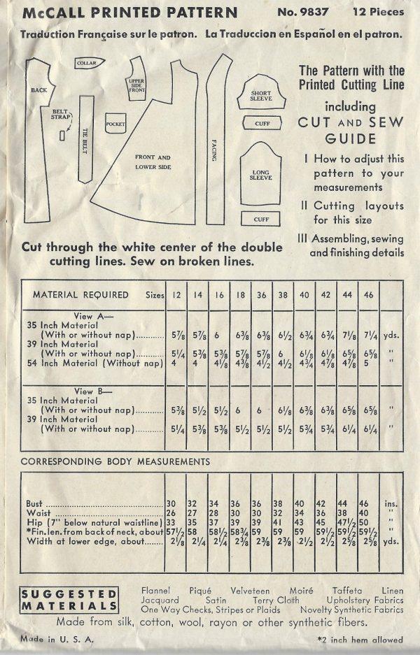 1938-Vintage-Sewing-Pattern-B36-BATHROBE-DRESSING-GOWN-1442-262398369787-2