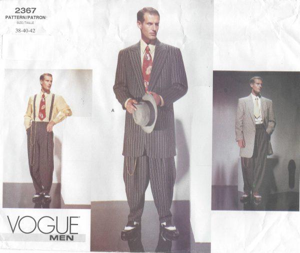 1940s-Vintage-VOGUE-Sewing-Pattern-Chest-38-40-42-MENS-ZOOT-SUIT-R827R-251717089997