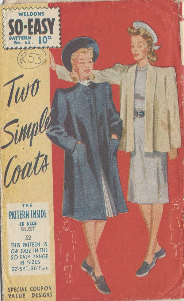 1941-Vintage-Sewing-Pattern-B32-COAT-R53-251172280817