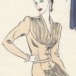 1943-WW2-Vintage-VOGUE-Sewing-Pattern-B30-DRESS-1129-251359282317-5
