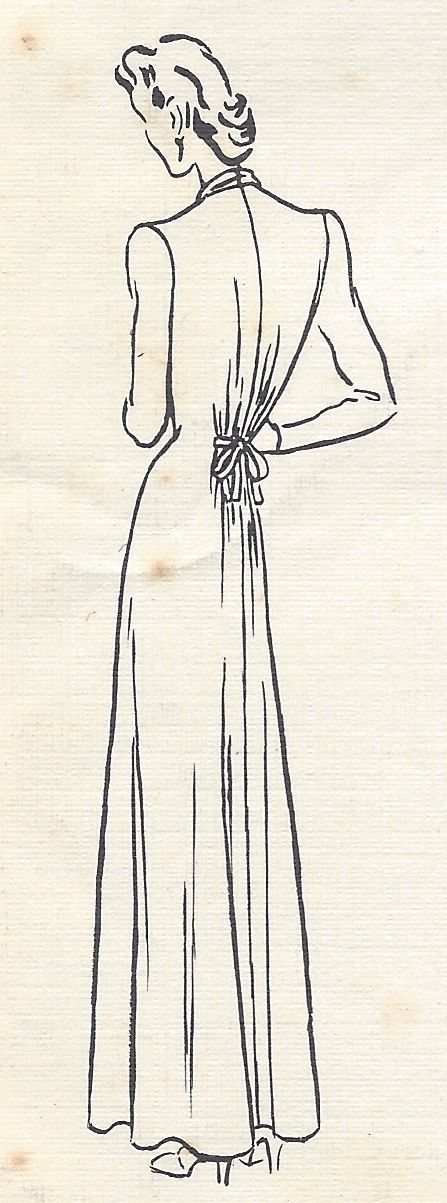 1943-WW2-Vintage-VOGUE-Sewing-Pattern-B30-DRESS-1129-251359282317-6