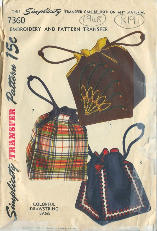1948-Vintage-Sewing-Pattern-BAG-EMBROIDERY-TRANSFER-R191-252204321107