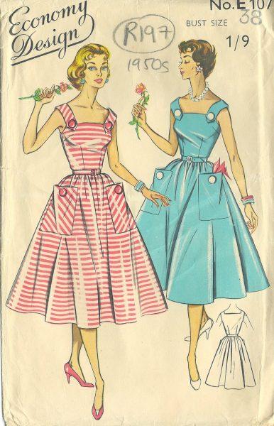1950s Vintage Sewing Pattern B38\