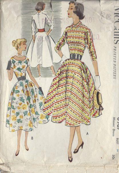 1952-Vintage-Sewing-Pattern-B34-DRESS-R18-251172239717