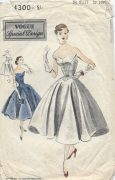 1952-Vintage-VOGUE-Sewing-Pattern-B34-DRESS-E1242-261481049417