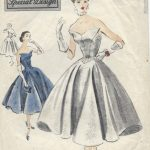 1952-Vintage-VOGUE-Sewing-Pattern-B34-DRESS-E1242-261481049417
