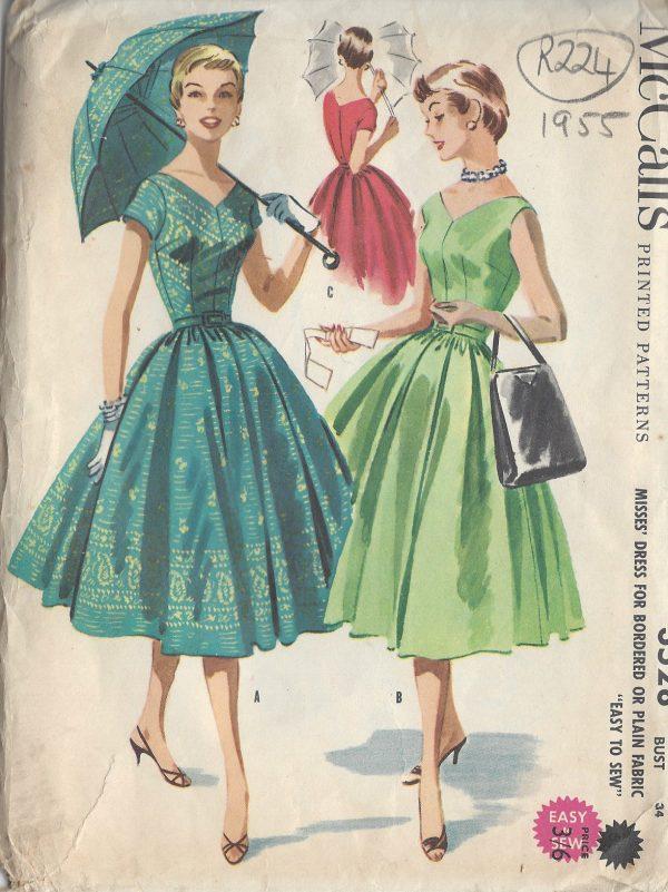 1955 Vintage Sewing Pattern B34\