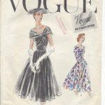 1956-Vintage-VOGUE-Sewing-Pattern-DRESS-B32-R497-251142509467