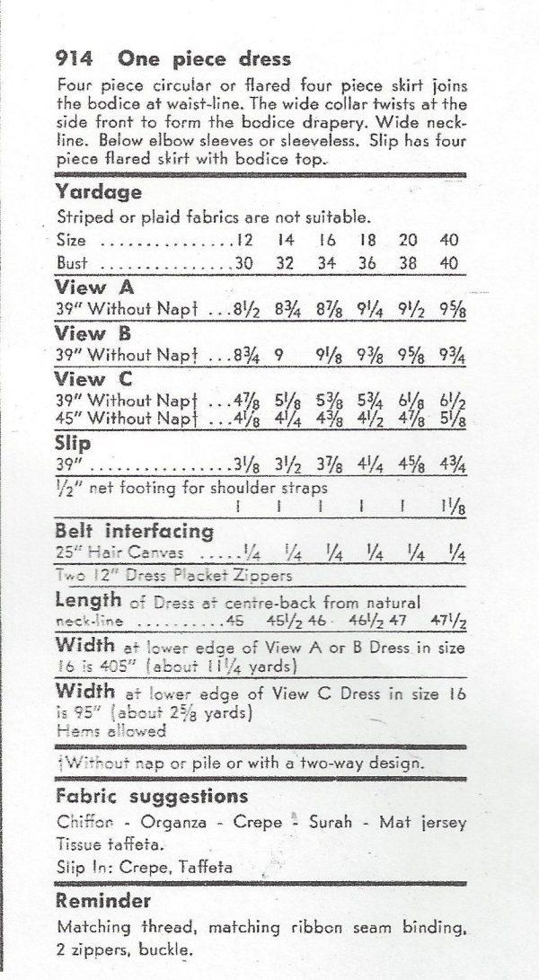 1956-Vintage-VOGUE-Sewing-Pattern-DRESS-B32-R497-251142509467-3