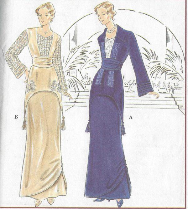 1900s-Edwardian-Vintage-Sewing-Pattern-2-PIECE-DRESS-B305-315-325-ins-1268-251708602018