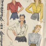 1940s-Vintage-Sewing-Pattern-BLOUSE-B42-R274-251946386798