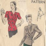 1940s-WW2-VOGUE-Vintage-VOGUE-Sewing-Pattern-B32-BLOUSE-1544-262117661378