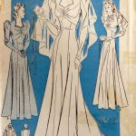 1940s-WW2-Vintage-Sewing-Pattern-B32-BRIDAL-EVENING-DRESS-with-TRAIN-1538R-262089843208