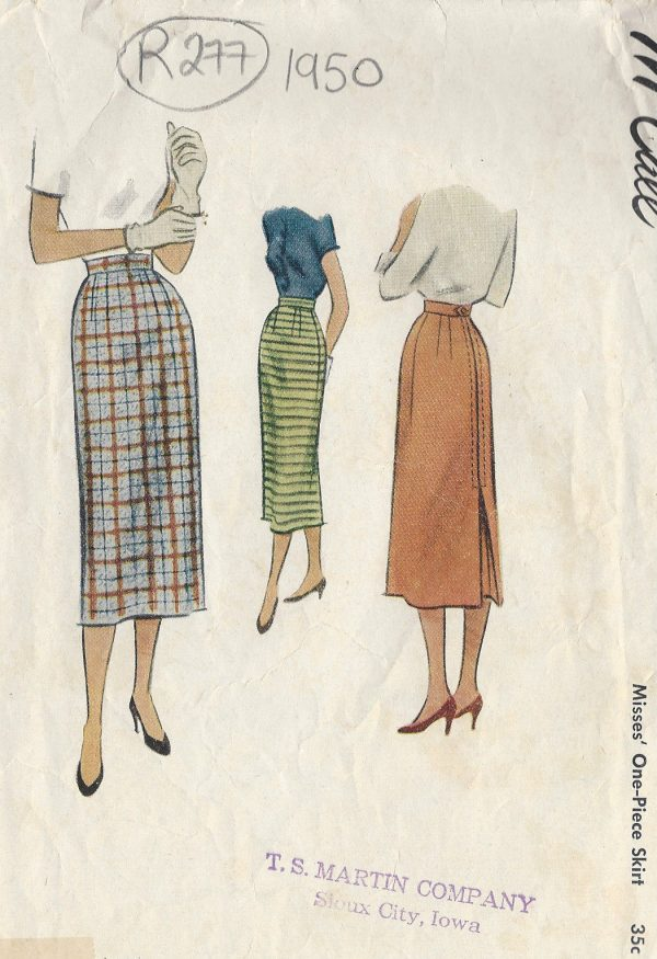 1950-Vintage-Sewing-Pattern-W23-SKIRT-R277-251162227658