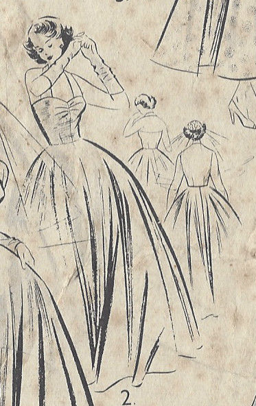 1950s-Vintage-Sewing-Pattern-B34-WEDDING-DRESS-BRIDESMAID-DAY-DRESS-R780-251188821058-2