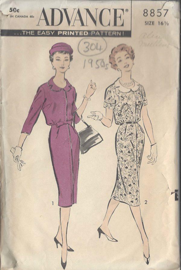 1950s Vintage Sewing Pattern B37\