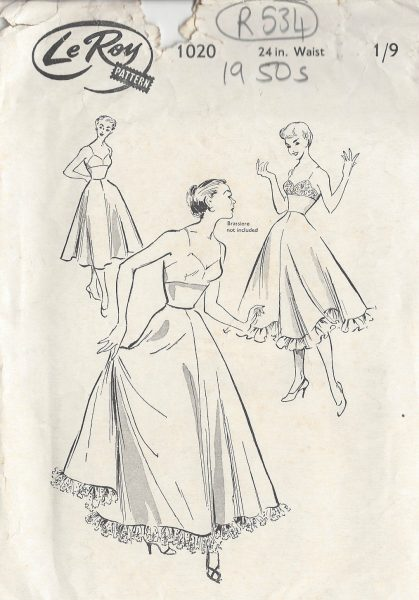 1950s-Vintage-Sewing-Pattern-PETTICOAT-W24-R534-251151035338