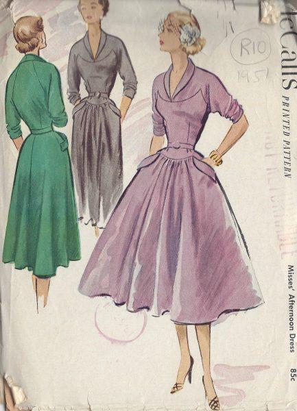 1951-Vintage-Sewing-Pattern-B34-DRESS-R10-251172214198