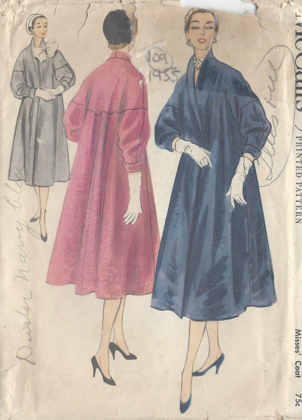 1955 Vintage Sewing Pattern COAT B36\
