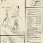 1956-Vintage-VOGUE-Sewing-Pattern-B34-DRESS-PETTICOAT-1579-By-JACQUES-HEIM-252315483178-2