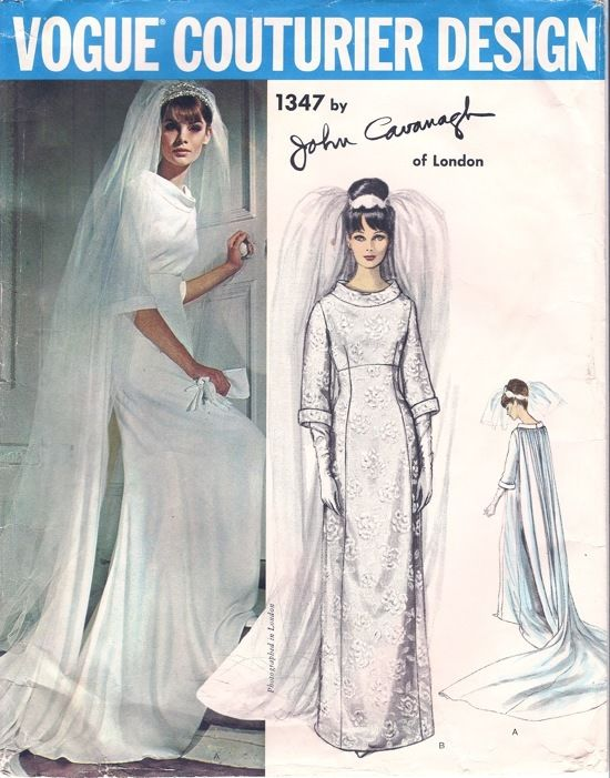 1964-Vintage-VOGUE-Sewing-Pattern-B36-WEDDING-DRESS-GOWN-1777-BY-JOHN-CAVANAGH-262786413978-3