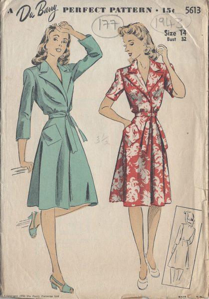 1943-Vintage-Sewing-Pattern-B32-BRUNCH-BEACH-COAT-177-By-Du-Barry-251173254039