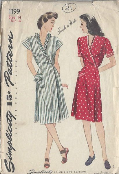 1944-Vintage-Sewing-Pattern-DRESS-B32-S14-21-251141670429