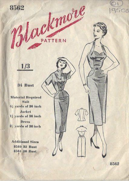 1950s-Vintage-Sewing-Pattern-B34-DRESS-JACKET-01-251141465299