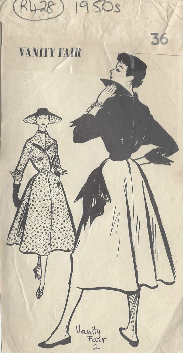 1950s Vintage Sewing Pattern B36\