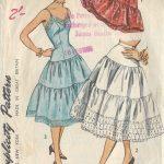 1953-Vintage-Sewing-Pattern-B30-W25-PETTICOAT-SLIP-R966-261211359539