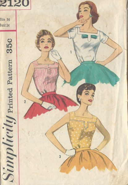 1957-Vintage-Sewing-Pattern-B34-BLOUSE-1002-261220473289