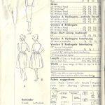 1960-Vintage-VOGUE-Sewing-Pattern-B36-REDINGOTE-DRESS-1654R-262447981109-2
