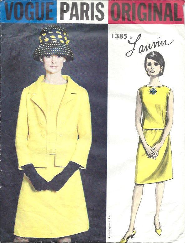 1964 Vintage VOGUE Sewing Pattern B36 JACKET SKIRT OVERBLOUSE (1516 ...