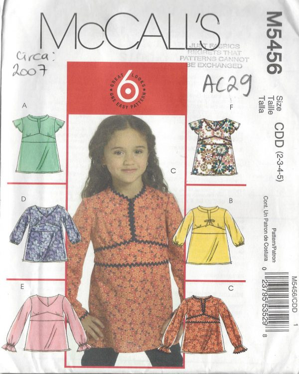 2007-CHILDS-Sewing-Pattern-2-5-TOP-AC29-262049768069